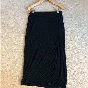 Naked Wardrobe slit midi skirt